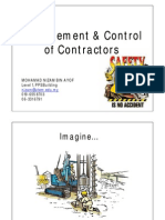 Management & Control of Contractors