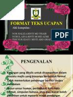 Format Teks Ucapan