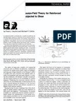 The Modified Compression Field Theory for Reinforced Cocrete Elements Subjected to Shear