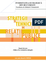Strategii Si Tehnici de Relatii Publice