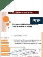III. enquete épidémiol biostastique