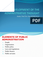 Traditional Public Administration