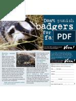 Save Badgers - Go Vegan