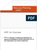 Human Resource Planning (HRP)