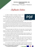 PRA de Marketing Principais Variáveis