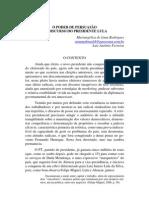O poder de persuasão do discurso do presidente lula - MARIANGÉLICA
