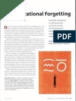 Organizational Forgetting