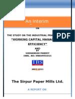INTERIM Report Sudhanshu Pandey 09BSHYD1015 Edited