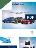 Peugeot Millesim Brochure