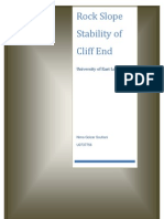 Rock Slope Stability of Cliff End