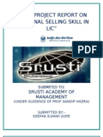 Personal Selling Skill in Licc