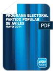 PROGRAMA ELECTORAL PP AVILÉS 2011-2015