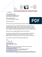 11-05-08 Univ of Chicago Law School Professor Richard Posner is asked to opine regarding ADL's refusal to opine on corruption/racketeering in the courts by Los Angeles Jewish-legal community leaders s