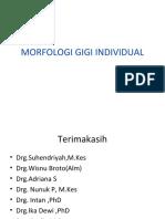 Morfologi Gigi Individual