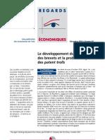 N° 83 - Le développement du marché des brevets et la problématique des patent trolls - Décembre 2010