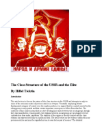 Class Structure of the USSR and the Elite by Hillel Ticktin