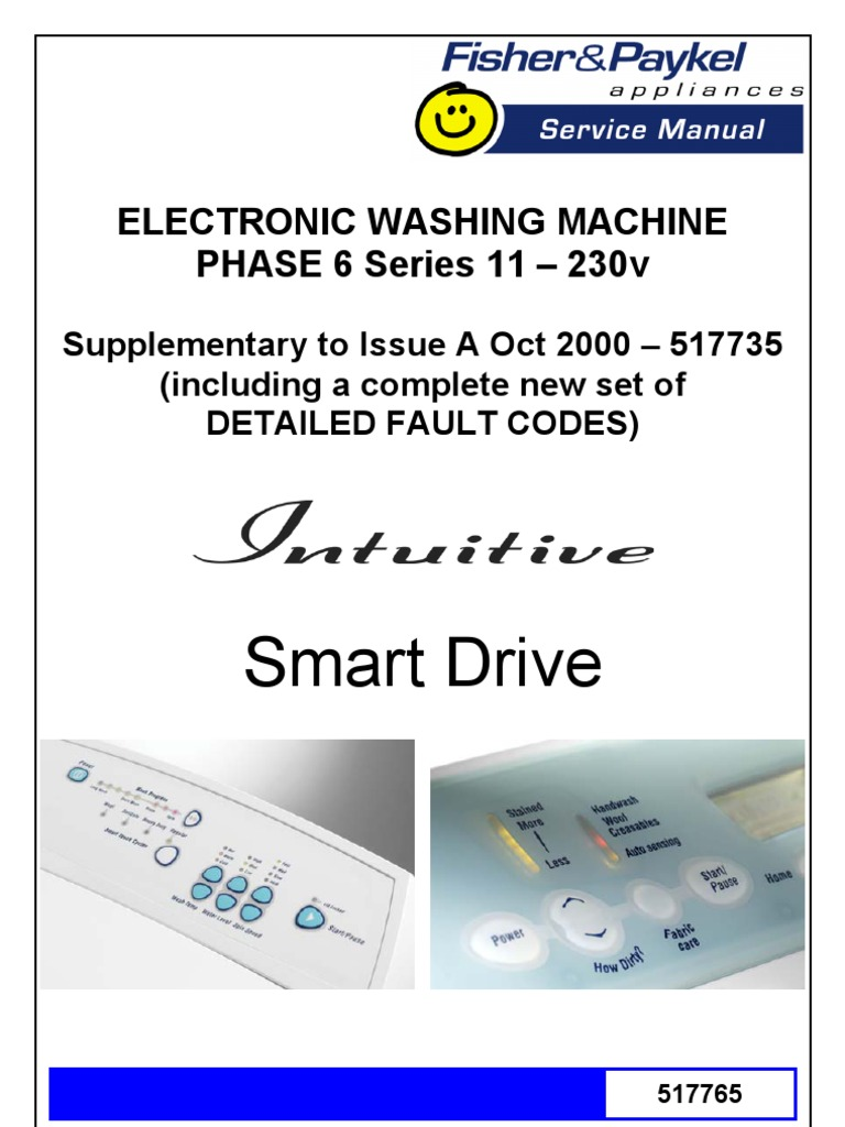 fisher paykel washer fault codes vacuum tube pump rh es scribd com Fisher Paykel EcoSmart Washer GWL11 Fisher and Paykel Washer Diagram