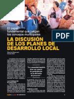La Discucion de Los Planes de Desarrollo Local