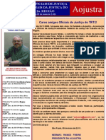 Informativo Convite da Aojustra de 09/05/2.011