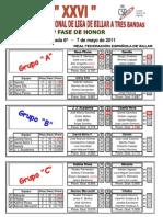 Resultados encuentros División de Honor J6