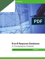 B-to-B Response Databases