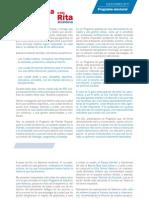 Programa Electoral Municipal Valencia PPCV 2011