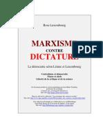 Marxisme Contre Dictature de Rosa Luxemburg