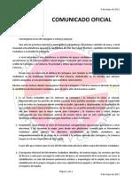 Comunicado Convergencia Cívica 6.5