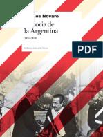 Marcos Novaro Historia de La Argentina 1955 2010
