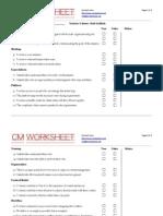 CMS Implementation Worksheet