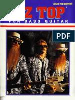 Zz Top the Best of for Bass Guitar-(Us-bass-Isbn0898987695)