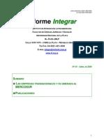 Las Empresas Transnacionales y Su Amenaza Al Mercosur. Boletin 54 VD