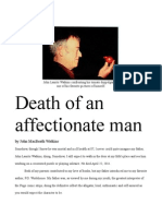 Death of an Affectionate Man