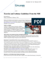Exercise and Asthma Guidelines From the NIH