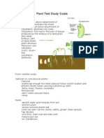 Plant Test Study Guide