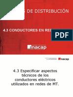 4.3 Redes de Distribución Conductores