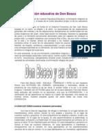 La visión educativa de Don Bosco
