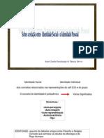 Relação entre identidade social e identidade individual Jean-Claude Deschamp e Thierry Devos PPT