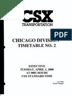 CSX Chicago Division ETT NO 2 4-1-2008 | Transport
