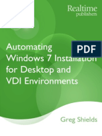 Automating Windows 7 Installation for Desktop and VDI Environments