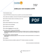 Dossier Inscription BTS