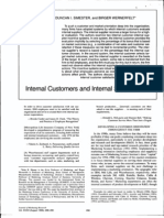 Internal Customers and Internal Suppliers