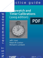 NIST Stopwatch & Timer Calibrations 2009
