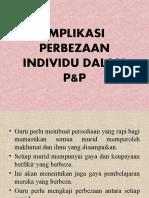Implikasi Perbezaan Individu Dalam p&p