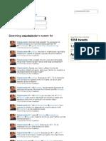 My tweets between April 2010 and December 2010