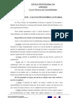 REFLEXÃO DA UFCD –  CALCULO FINANCEIRO E ACTUARIAL
