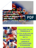 Corsi 2010 Facoltà di Lingue Ragusa