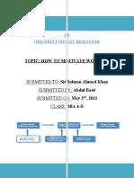 Organizational Behavior Basit
