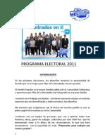 PROGRAMA ELECTORAL - 2011