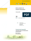 Proceedings of the Special Session on Disaster Management